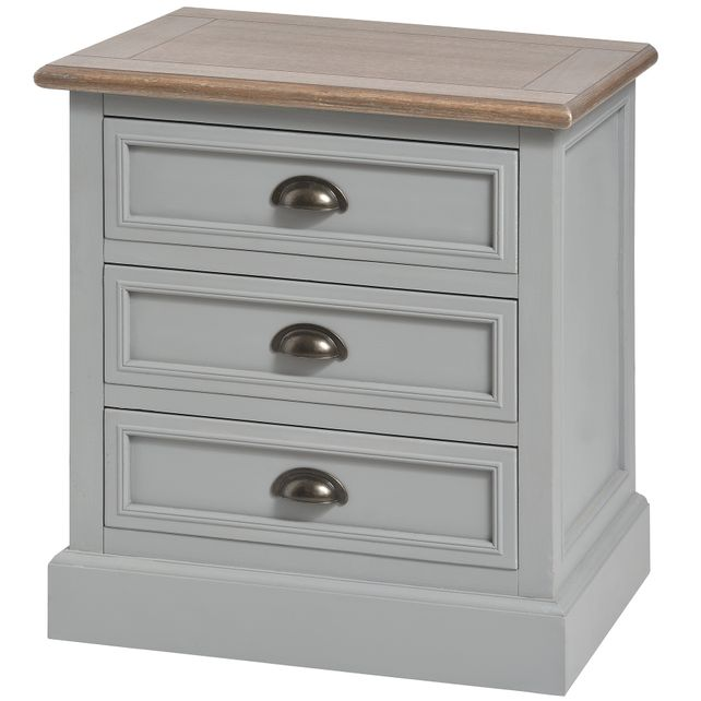 London bridge range: 3 drawer bedside cabinet.