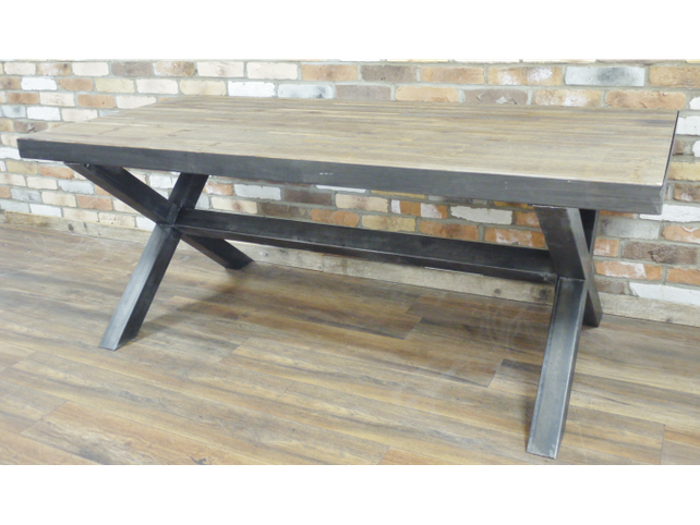 Loft style industrial dining table.