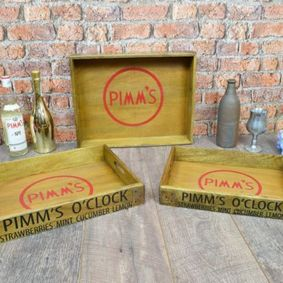 Pimms wooden set of Trays