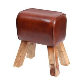 Leather pommel horse stool.