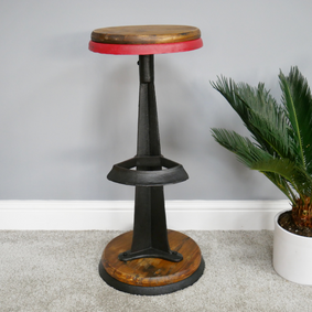 Loft: industrial Cast Iron Stool.