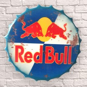 Large Metal Printed Bottle Top 40cm. Red Bull. Coming soon.