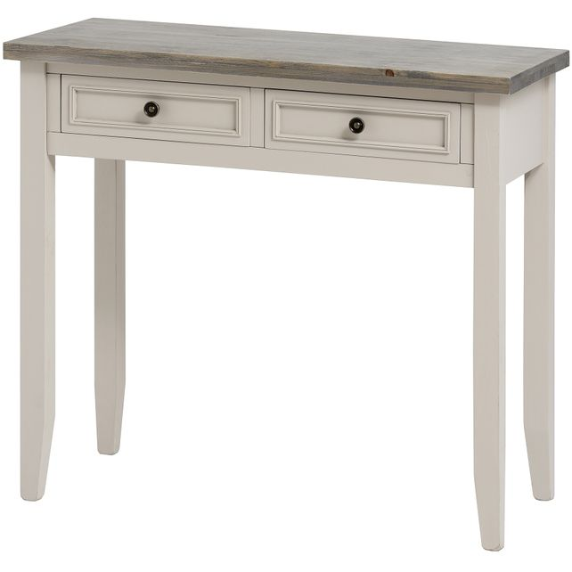 Bath range :Neutral two drawer console table