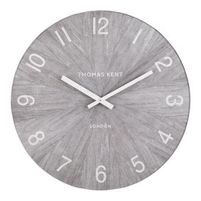 Wood effect XL wall clock.