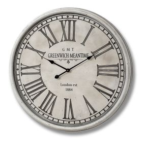 Large Greenwich wooden Wall Clock in Grey