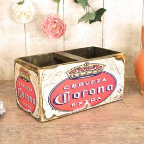 Hardwood printed wax finish nostalgic box Corona.