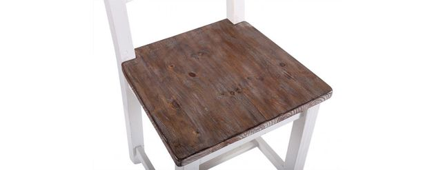 Bruges range: Dinning chair built from reclaimed wood.
