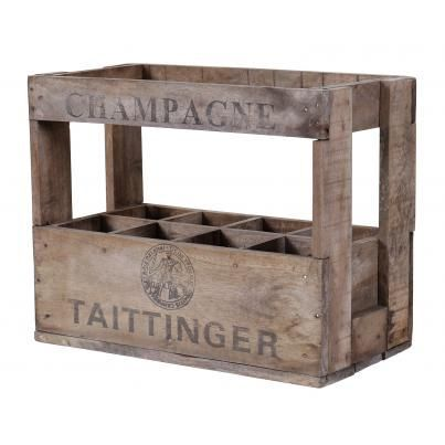 Vintage display Champagne crate. Taittinger