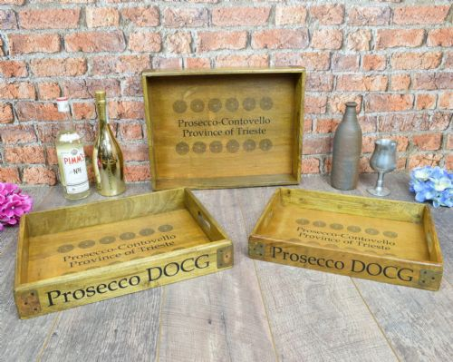 Prosecco set of Trays.