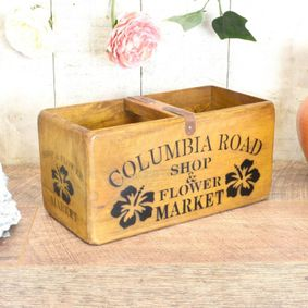 Hardwood printed wax finish nostalgic box.Columbia road.