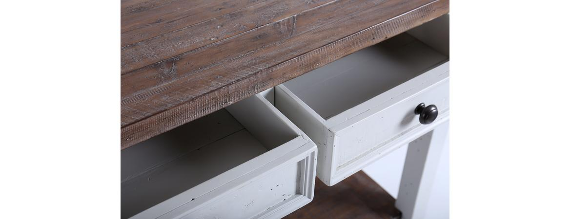 Bruges range: Console table. Built from reclaimed wood.