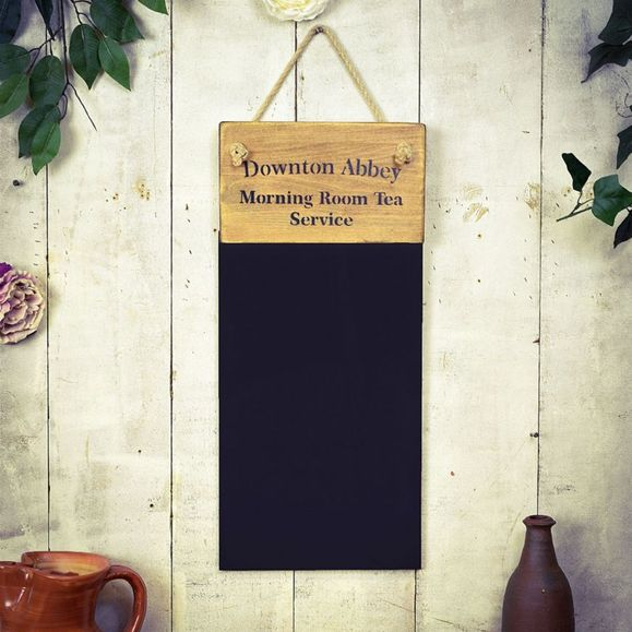 Reclaimed wooden French polished black board .Downton Abbey