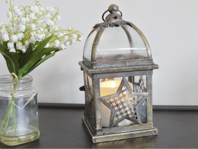 Dutch Glass and metal star lantern.