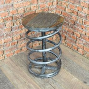 Spring stool with reclaimed Ash top. Back soon