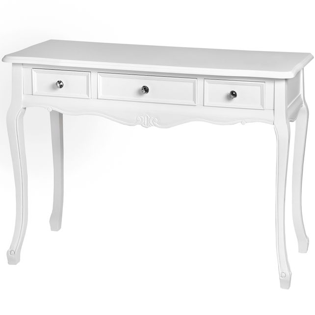 Venice range: 3 drawer wooden console table.