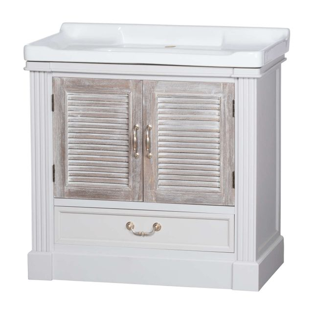 Vannes range: Sink unit with Louvered doors.