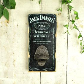 Wooden sign with bottle opener.Jack D.