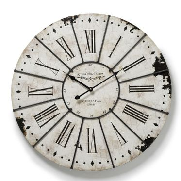 Grand hotel Antiqued Roman Numeral Wall Clock.