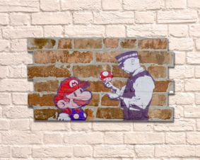 Brick Wall Artwork. Mario.