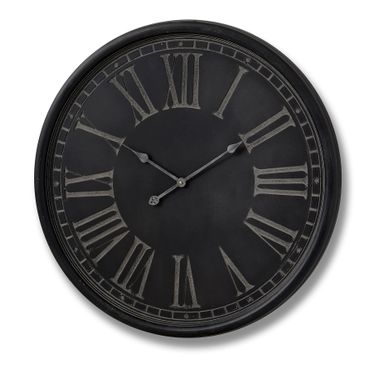 Charcoal and grey wall clock.