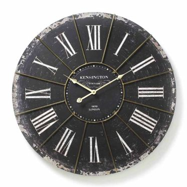 Large Kensington Black Wall Clock.