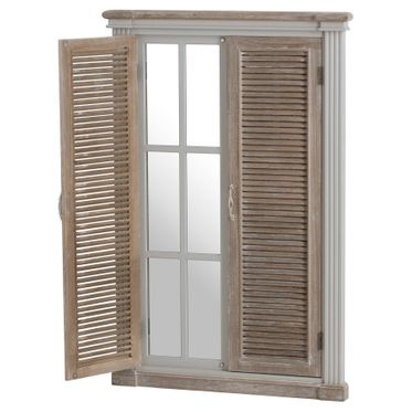 Vannes collection: Louvered door with secret mirror.