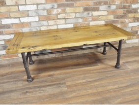 Loft industrial coffee table.