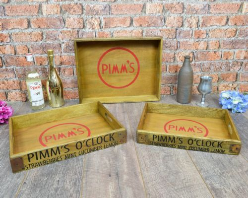 Pimms wooden Trays