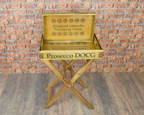 Large butlers Stand & three tray set. Prosecco.