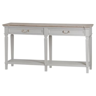 Vannes range: Two drawer long console table.