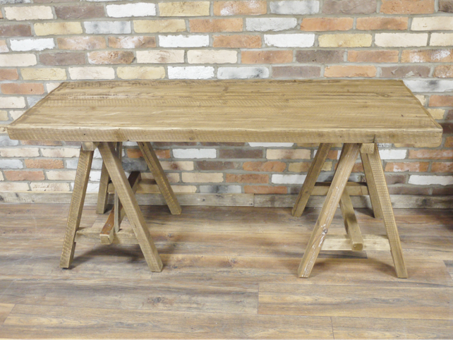 Large wooden table.