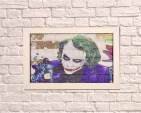 Brick Wall Artwork. Joker
