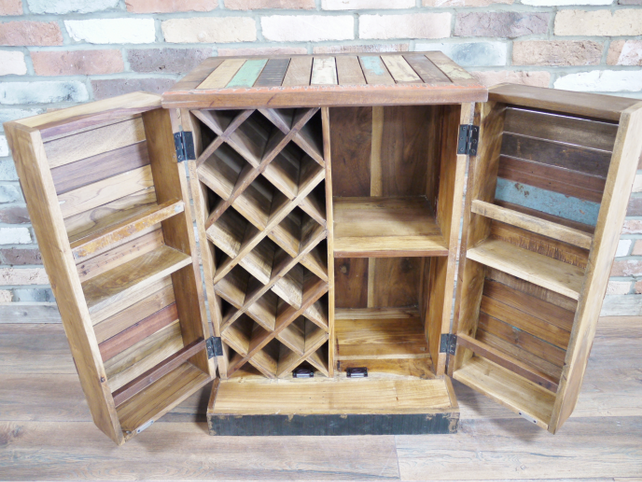Reclaimed wooden Bar Cabinet.
