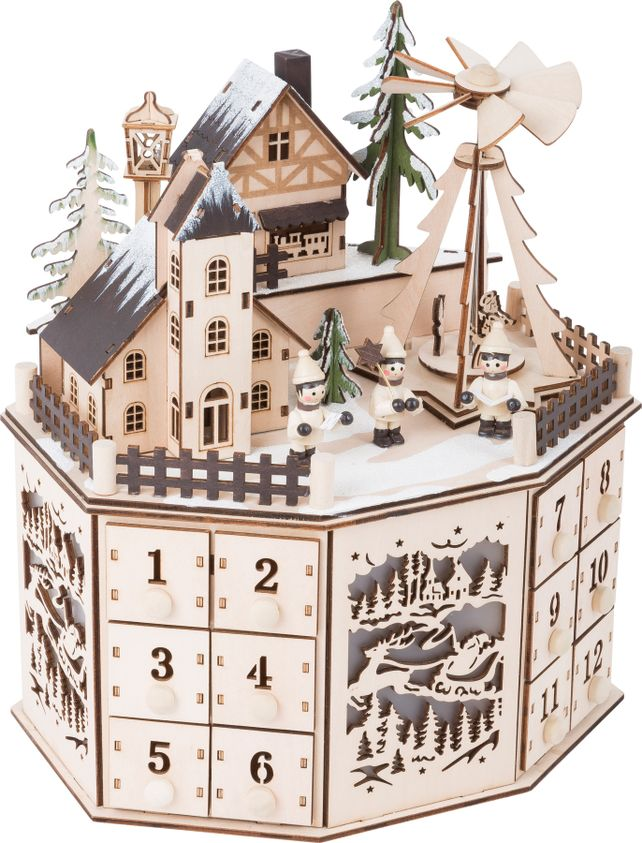 Authentic German wooden Advent calendar.