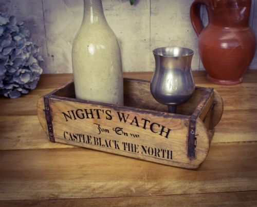 Real Antique reclaimed wooden brick mould. Boxes. Nights watch.