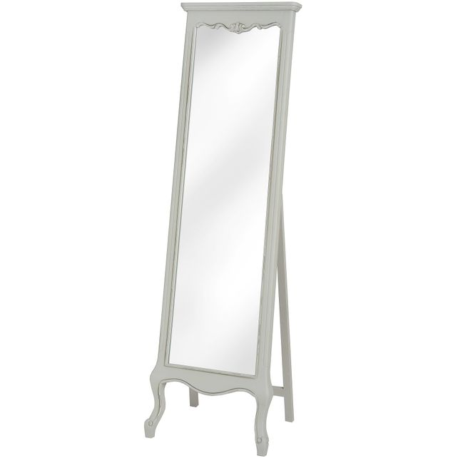 Vannes Range: Dove grey Cheval mirror. Sold out.
