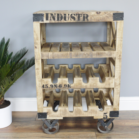 Industrial Wine Trolley.