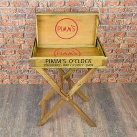 Large butlers Stand & tray set. Pimms.