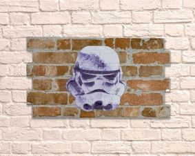 Brick work wall art. Trooper