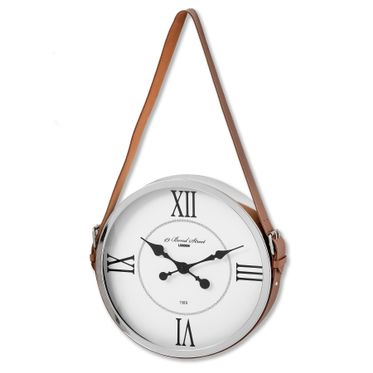 Bond Street London Wall Clock With leather Strap.