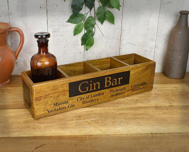 Hard wood four tier box.Gin Bar.