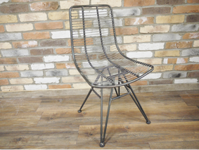 Loft industrial steel chair.