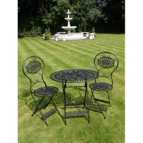 Garden bistro set in Black.