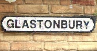 Retro wall plaque. Glastonbury