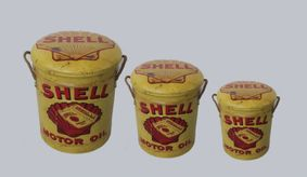 Metal storage Stools / container Shell.