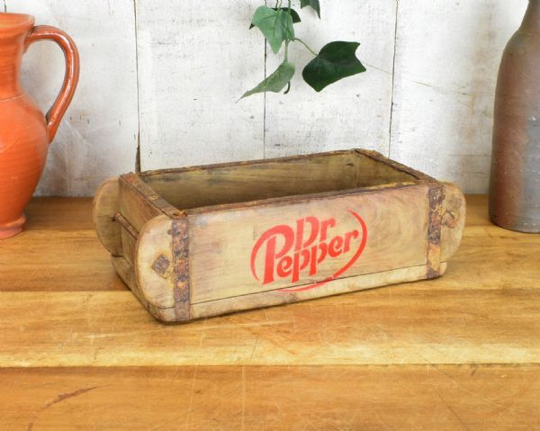 Real Antique reclaimed wooden brick mould. Boxes. Dr Pepper.