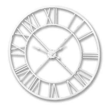 Antique White Roman Numeral Wall Clock.