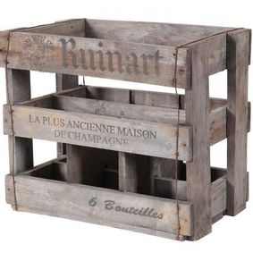Vintage display wine crate. Ruinart