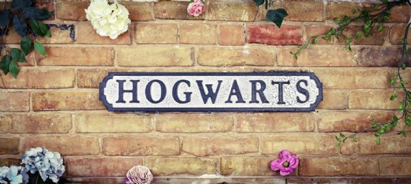 Wooden Black and crackle white Hoqwarts Road Sign. Perfect gift