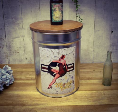 Retro Metal Stool/side table. Memphis Bell. Great Dad gift.